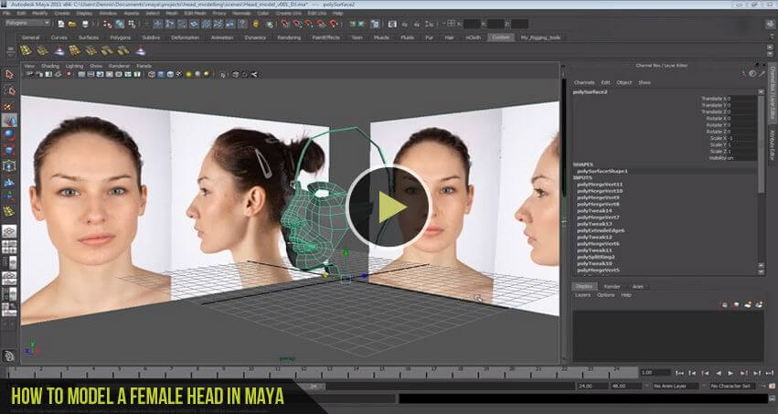 How-to-Model-a-female-head-in-Maya-Tutorial-CGfrog