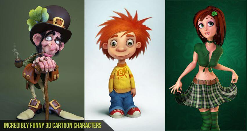 Incredibly-Funny-3D-Cartoon-Characters-CGfrog-Banner