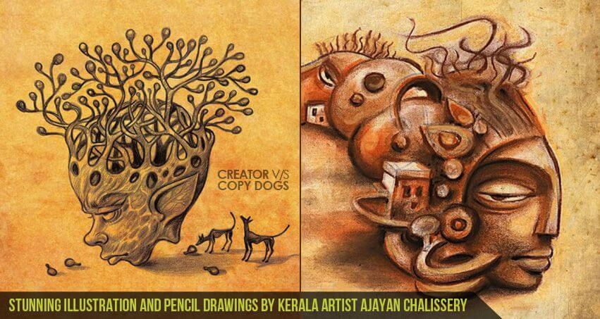 Stunning Illustration and Pencil Drawings by Kerala Artist Ajayan Chalissery