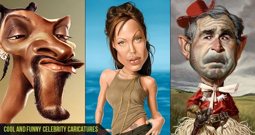 Cool and Funny Celebrity Caricatures-CGfrog_com_banner