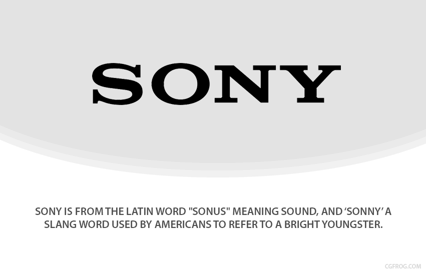 How SONY got their name