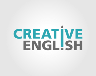 Creative English Logo Design