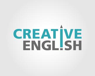 Creative English Logo Design