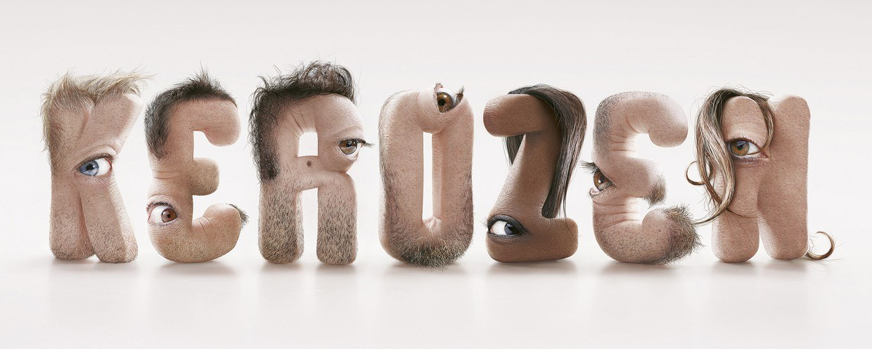 Human type for KEROZEN by Jean-Charles Debroize