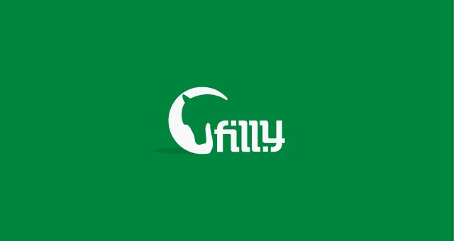 Filly ambigram logo design