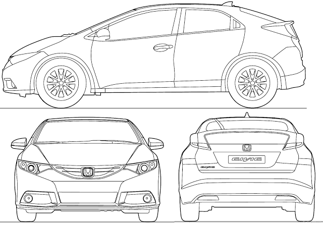 Download Most Loved Hd Car Blueprints For 3d Modeling For Free