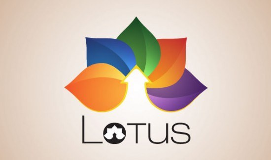 Beautiful examples of creative Lotus Logo Design for your inspiration-cgfrog-14