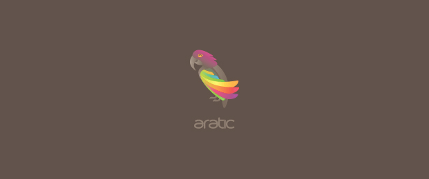 Aratic-bird-logo-design