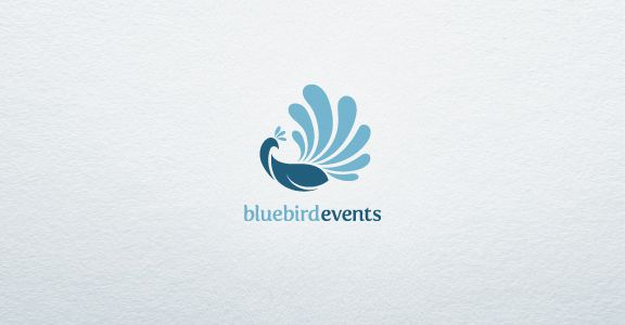 Blue-Bird-Events-bird-logo-design