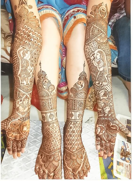 foot and hand full body mehndi design