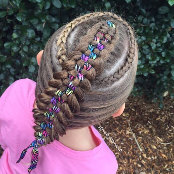 Shelley Gifford creates intricate hairstyles on her daughter Grace's hair every morning before school-16