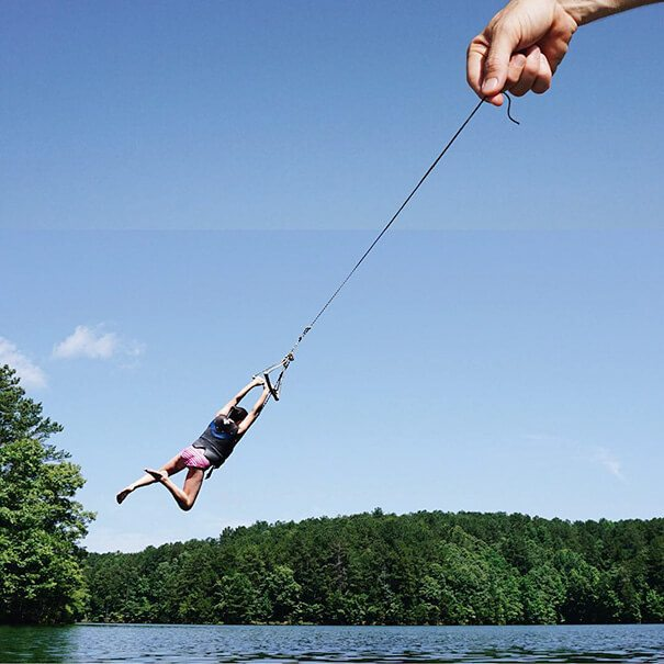 Piece of String + Rope Swing Photo Mash by Stephen Mcmennamy