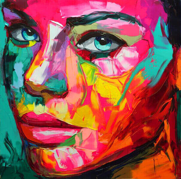 best vibrant knife Paintings by Francoise Nielly-14
