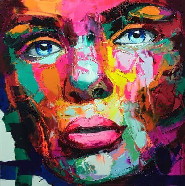 best vibrant knife Paintings by Francoise Nielly