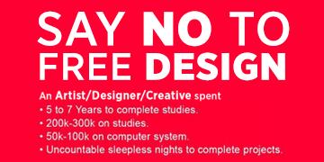Say No to Free Designs