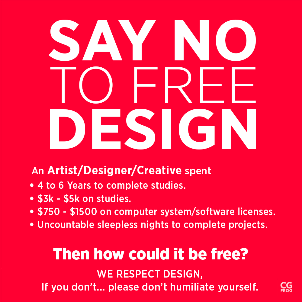 Say No to Free Designs, Otherwise It Will End Up in the Trash | CGfrog