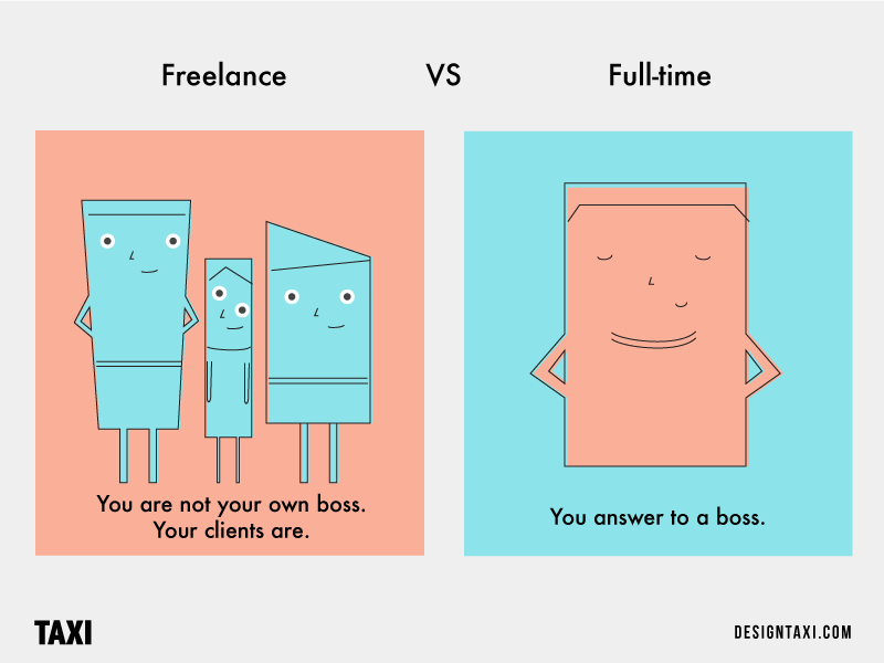Freelancer VS Full-Time Designer Boss