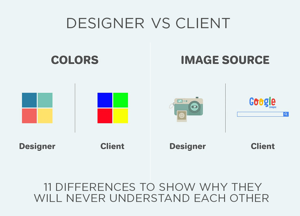 Graphic Designer vs Client