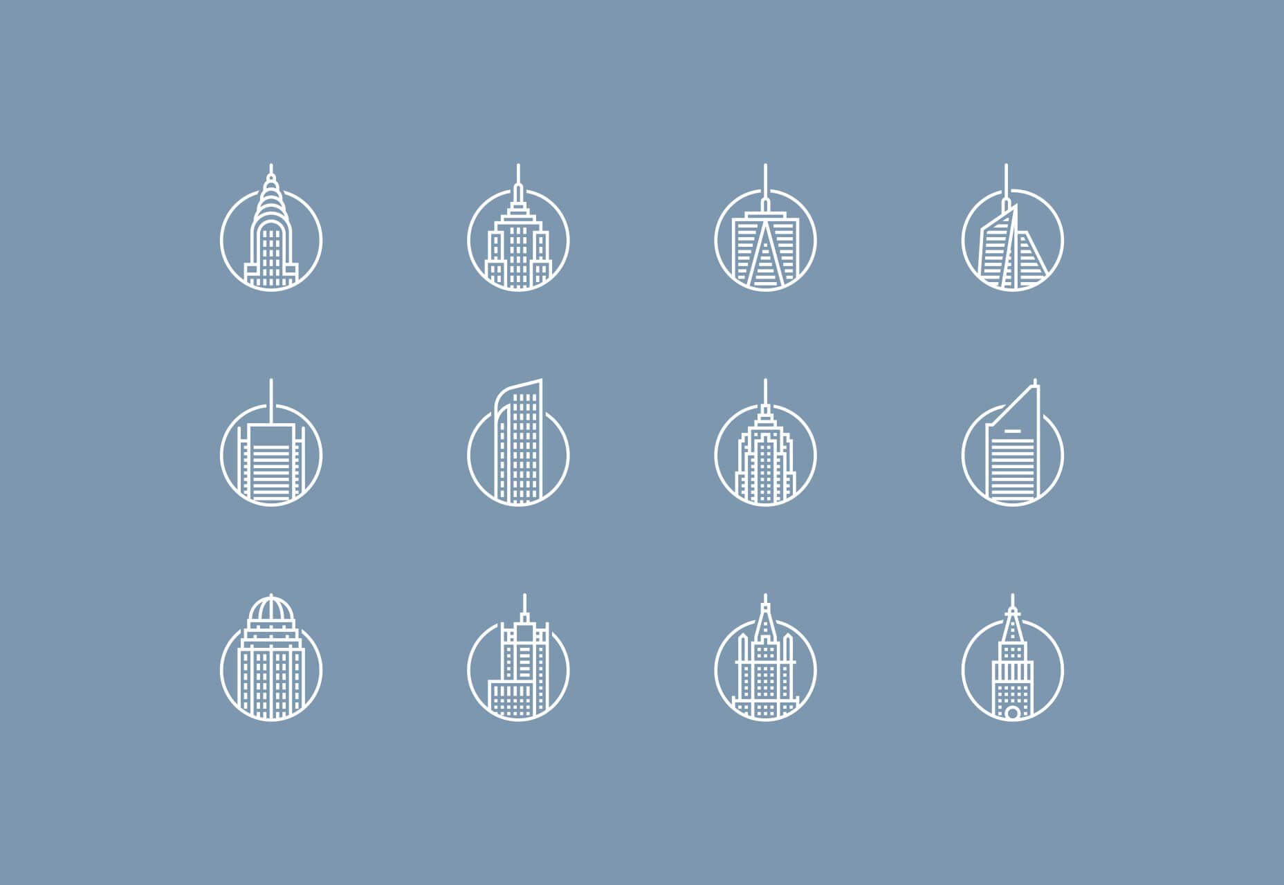 Download free new york building icons