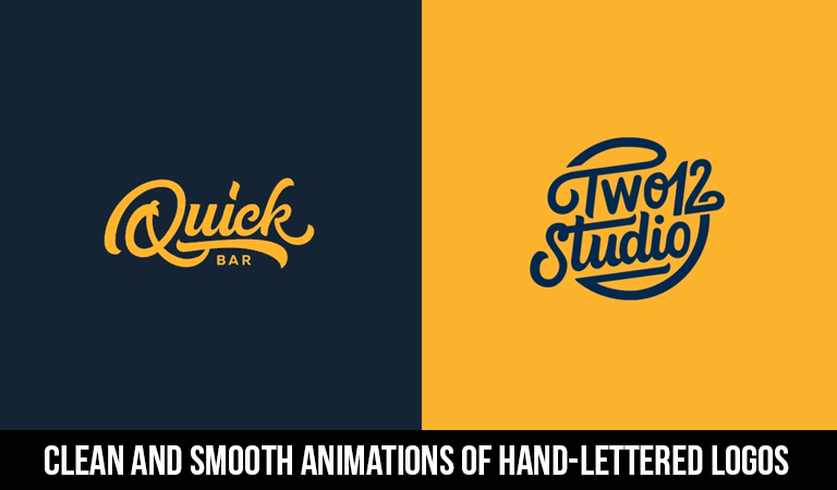 Clean and Smooth Animations of Hand-Lettered Logos