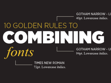 Design Principle - 10 Golden Rules to Combining Fonts