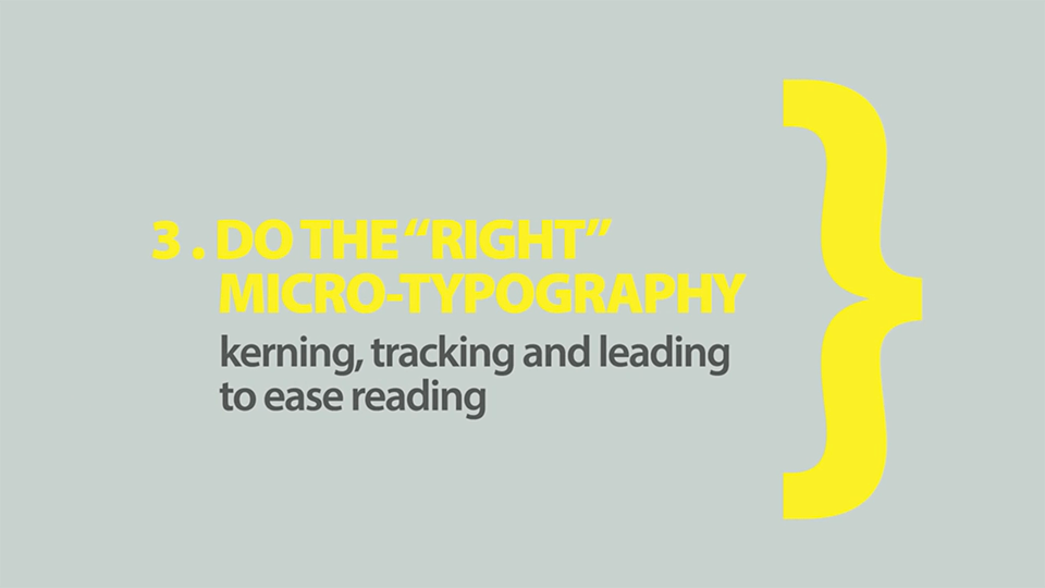 Do the Right Micro Typography-Rules of Typography in Web Design