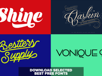 Download Selected Best Free Script Fonts, Simple Elegant Fonts, Decorative Fonts