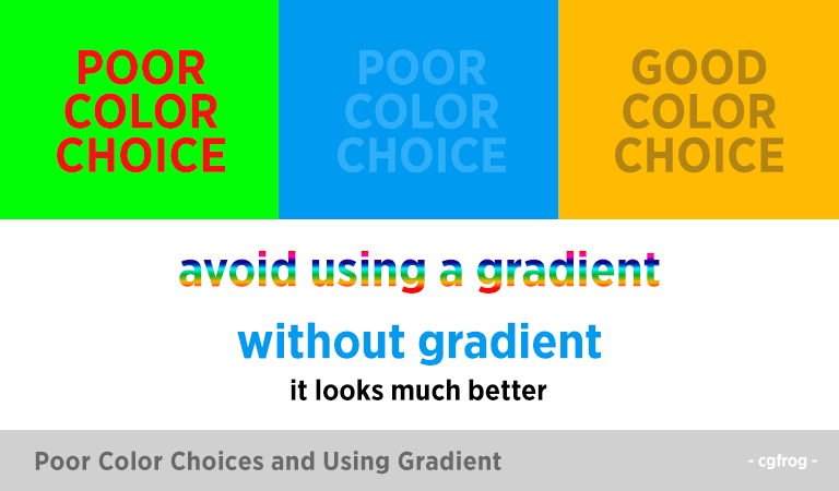 Poor-Color-Choices-and Using-Gradient-Habits of a Bad Graphic Designer