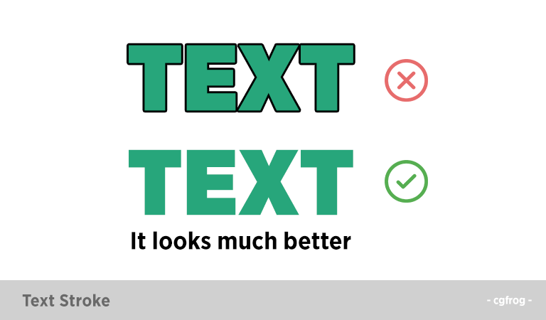 Text-Stroke-Habits of a Bad Graphic Designer