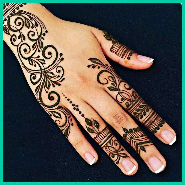 20+ Latest Arabic Mehandi Designs 2018 to Adorn You