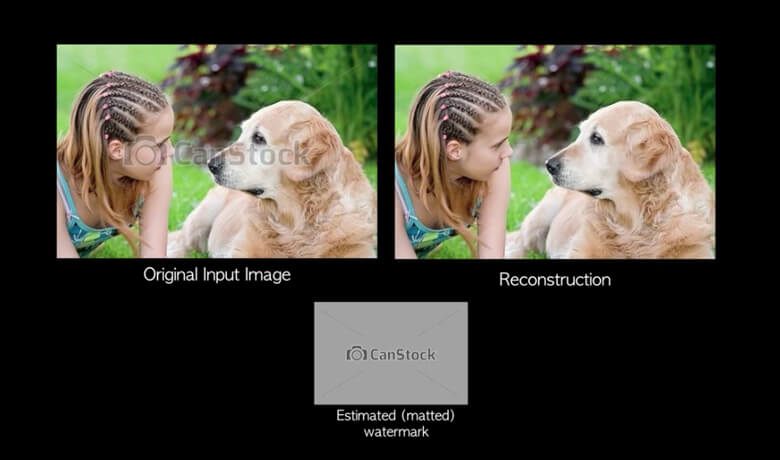 Google Algorithm Erases Watermark From Stock Photos