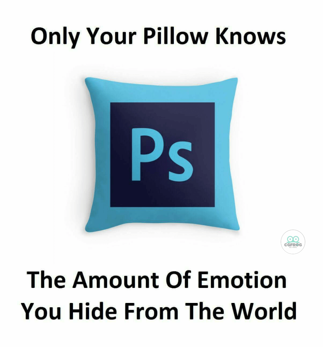 Photoshop Meme Only pillows knows the emotions