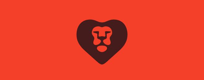 Lion Heart Lion Logo Design Examples