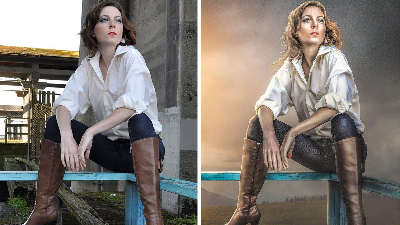 Before and After Photoshop Workflow