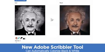 Adobe Scribbler Tool Can Automatically Colorize B&W Images in Few Seconds