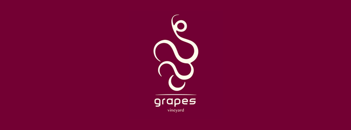 Grapes Fruit Logo Design