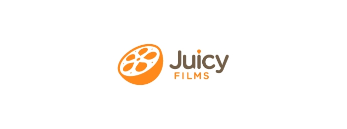 Juicy Films Fruit Logo Design