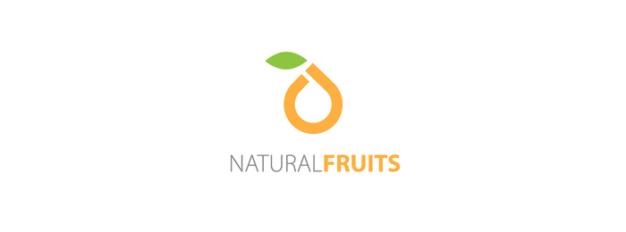 Natural Fruit Logo Design