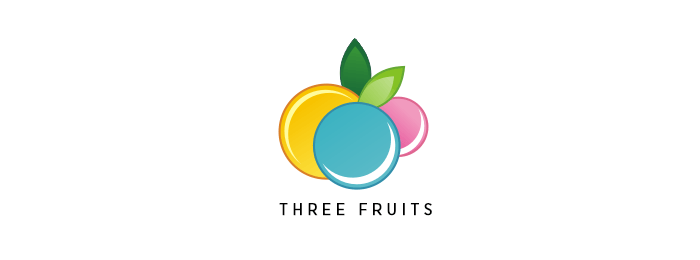 Three Fruits Fruit Logo Design