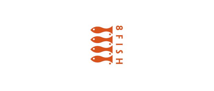 8 Fish Logo Design by Jerron