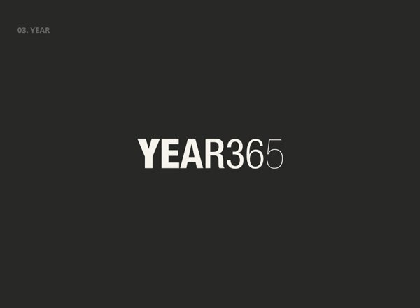 YEAR 365 - Best Clever Logos of Common Words in English Nouns