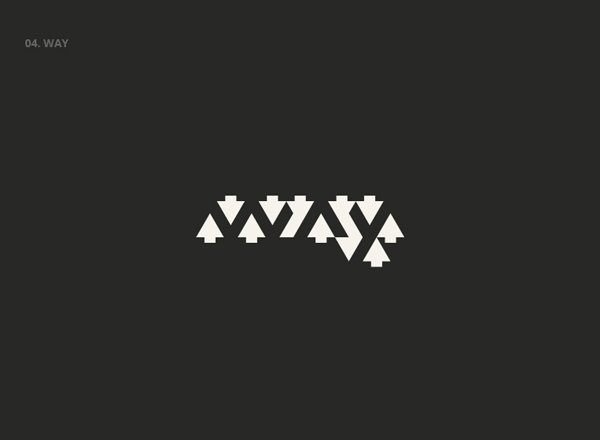 WAY - Best Clever Logos of Common Words in English Nouns