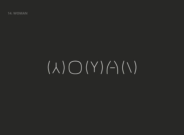 WOMEN - Best Clever Logos of Common Words in English Nouns