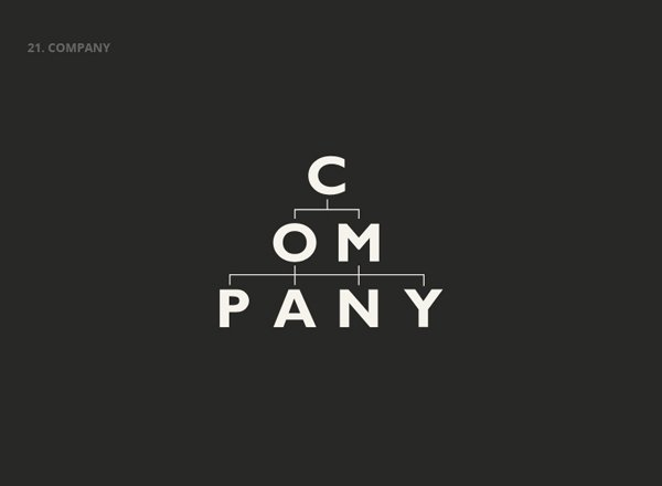 COMPANY - Best Clever Logos of Common Words in English Nouns