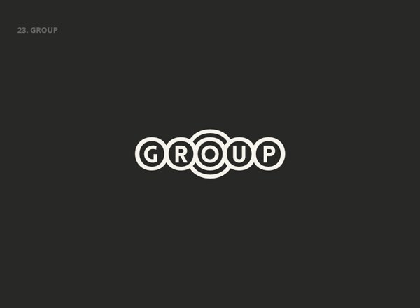 GROUP - Best Clever Logos of Common Words in English Nouns
