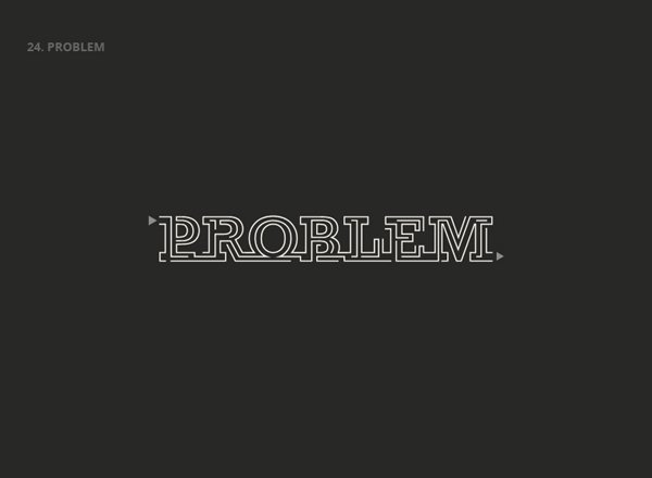 PROBLEM - Best Clever Logos of Common Words in English Nouns