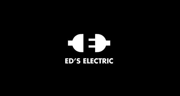 Best New Negative Space Logo Designs EDs Electric Designer-Siah Design